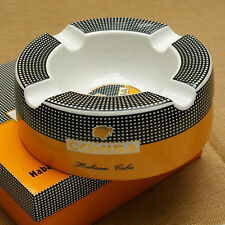 LARGE 8 INCH  COHIBA CIGAR ASHTRAY W/CHECKERED BORDERS  BEST SELLER!