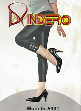Indero Shinny Black Faux Leather Ankle Jeweled Leggings - 5001 - Size L - XL