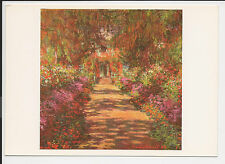 Vintage Postcard Post Card Continental Monet Garden Path Giverny 1900 ac14