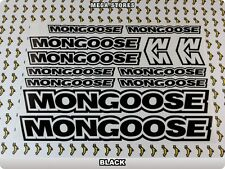 MONGOOSE Stickers Decals Bicycles Bikes Cycles Frames Forks Mountain MTB BMX 60V