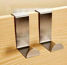 2x Over Door Hook Stainless Kitchen Cabinet Clothes Hanger Organizer Holder DICA