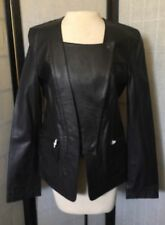 NWT ALEXANDER WANG Black LEATHER JACKET Size 6