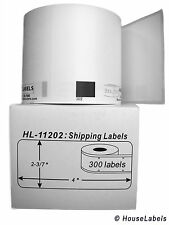 4 Rolls of DK-1202 Brother-Compatible Shipping Labels [BPA FREE]