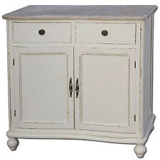 FRENCH COUNTRY SIDEBOARD CABINET CUPBOARD SHABBY CHIC VINTAGE ANTIQUE CREAM