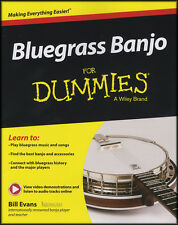 Bluegrass Banjo for Dummies 5-String Banjo TAB Music Book/DLC Learn How to Play