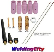 TIG Welding Torch 17/18/26 Kit Collet Body-Cup-Tungsten .040-1/16 T55A US Seller