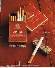 PUBLICITE ADVERTISING 055  1978  DUNHILL INTERNATIONAL  cigarettes
