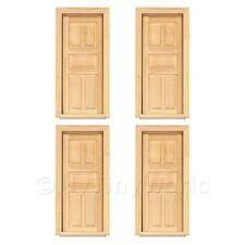 4 X Puppenhaus Miniatur Innen 5-panel Holz Türen