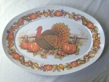 Vintage Apollo Ware Melmac  Melamine Turkey Platter for Thanksgiving 14.5 x 21""