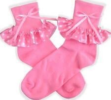 PINK Polka Dot BOW Socks for Adult Little Girl Sissy Dress up LEANNE