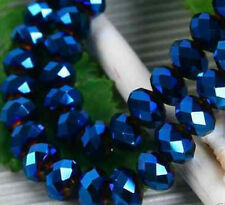 300pcs Dark Blue Faceted crystal Loose Beads 3x4mm LL006