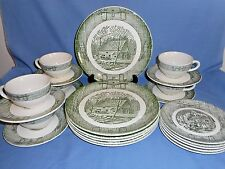 Set/Lot of 23 Piece Royal China Ox Bow & Plow 4 pc Service for 6