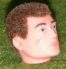 VINTAGE ACTION MAN 40th RICAMBIO TESTA FLOCCATI Fuzzy capelli castani