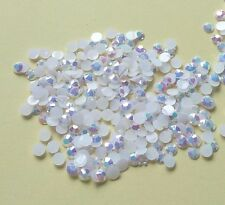 DIY 500pcs 4mm white Facets Resin Rhinestone Gems Flat Back Crystal beads 151