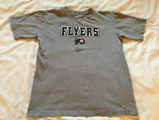 Boy's Youth Reebok NHL Philadelphia Flyers Gray T-Shirt, Size Med