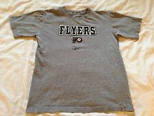 Boy's Youth Reebok NHL Philadelphia Flyers Gray T-Shirt, Size Med