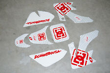 Dirt Pit Bike Fairing Plastic Decal Stickers 70cc 90cc Pitsterpro XJR SS 70 90 D