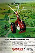 Publicité advertising 1981 Les Motoculteurs Iseki