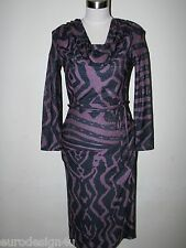 NWT VIVIENNE WESTWOOD RED LABEL NAVY/LILAC SHIMMER DRESS sz S made in Italy
