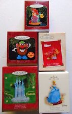 Hallmark Disney Christmas Ornament Lot Little Mermaid Nemo Cinderella Keepsake