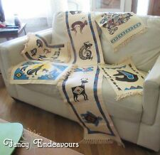 El Paso Saddle Blanket Company Table Runner & 4 Place Mats NA Mimbres Design