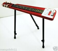 Lap Steel Electric Guitar W/ Three Way Stand, Tone Bar & a Padded Gig EA-2-RED