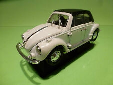 POLISTIL S220 VW VOLKSWAGEN KAFER BEETLE - WHITE CABRIOLET 1:25 - VG ON STAND