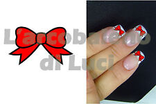 20 AUTOCOLLANTS POUR ONGLES FLOCON NOEUD ROUGE RED BOW NAIL ART NAILS STICKERS