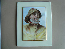 DECORATIVE CERAMIC PORCELAIN TILE PLAQUE LIFEBOAT TRAWLER FISHER MAN CLAY PIPE