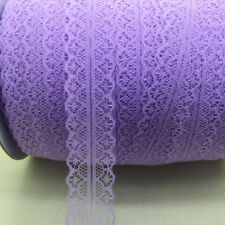 DIY ~10 Yards Bilateral Handicrafts Embroidered Net Lace Trim Ribbon Purple