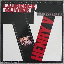 Shakespeare's  HENRY V ~ 1944 Laurence Olivier Criterion N. 258  2-Laserdisc Set