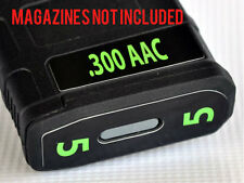 .300 AAC MAG STICKERS fits MAGPUL PMAG 30 GEN M3 AR15-M16-M4 LIME NUMBERS 1-6