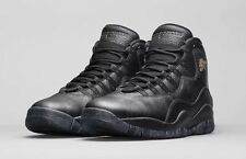 $200 NIKE AIR JORDAN 10 RETRO SZ 10 BLACK GOLD CITY PACK NEW YORK NYC 310805 012