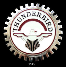 VINTAGE CAR GRILLE EMBLEM BADGES - THUNDERBIRD