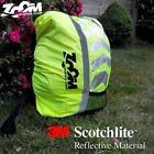 ZOOM LED Light Reflective High Hi Viz Vis Rucksack Backpack Cover Cycle Bike Bag