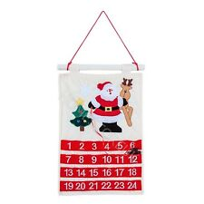 CHRISTMAS ADVENT CALENDAR WITH POCKETS FABRIC KIDS WALL HANGING COUNTDOWN 82170