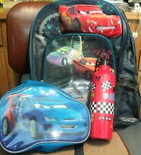 DISNEY CARS BACKPACK, LUNCH KIT/TOTE, PLUS THERMOS, COMPLETE NEW SCHOOL READY