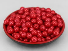 New Glass Pearl Round Spacer Loose Beads 10mm/30pcs red