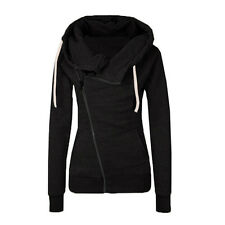 Women's Winter Zip Up Jumpers Tops Hoodies Chic Sweatshirt Pullover Coat Jackets