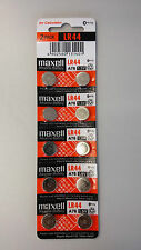 10 NEW LR44 MAXELL A76 L1154 AG13 357 SR44 303 BATTERY Expiration Year: 12-2019