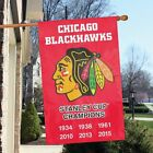 Chicago Blackhawks Applique NHL Licensed 28x44 Stanley Cup Banner -Free Shipping