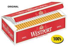50 Cartons Westport Original 100's Cigarette Filter Tubes Red (1 Master Case)