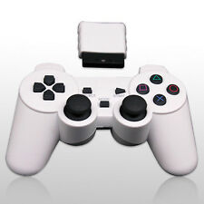 PS2 Dual Shock White Wireless Game Controller Convertible Computer 2.4G Game