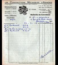 """ASNIERES-sur-SEINE (92) USINE de ROULEMENTS à BILLES """"C.M.A."""" 1958"""