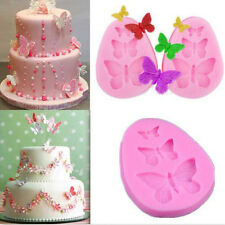 Cake Fondant Silicone Lace Mold Sugar Craft Mould Cake Decorating Tool Butterfly