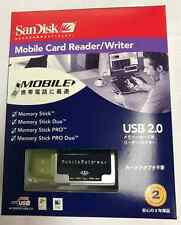 New SanDisk SDDR-107-J65M USB 2.0 Memory Stick/Pro/Duo Reader/Writer