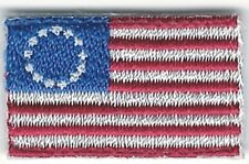 """3/4"""" x 1 1/4"""" Small Betsy Ross Flag Morale Tab Patch"""