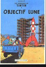 TINTIN Objectif Lune Milou Hergé carte postale cp postcard 15 Tournesol Fusée