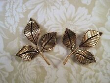 Oxidized Brass Plated Leaf Stampings (2) - BOS7372