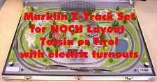 Marklin Z Track-Set Electric for NOCH Z Scale Layout Tessin 87060 or Tirol 87080